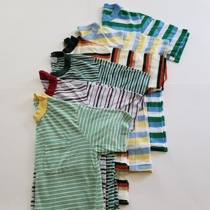 1970's | Lot Striped Basic Pocket JCPennys 50/50
